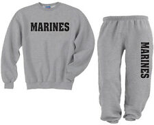Crewneck sweatsuit US United States Marines sweatshirt and sweatpants tracksuit
