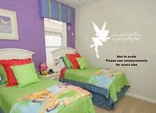 """Fairy Tinkerbell """"Faith, trust and Pixie Dust"""" Wall quote - Match bedding"""