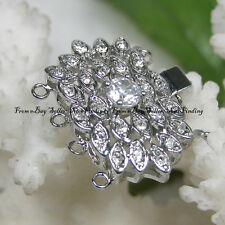 4 Strands Gold Plated Crystal Inlayed Jewelry Clasp