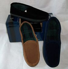 MENS Slip on SLIPPERS by ISOTONER With Indoor Outdoor Soles Choose Size & Color