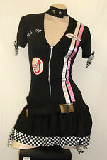 DRAGSTRIP KITTEN CAR SPEED RACER GIRL LEG AVENUE MINI DRESS COSTUME M/L FESTIVAL