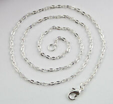 12PCS Sterling Silver plate 3x2mm Link chain necklaces #22562 at various sizes