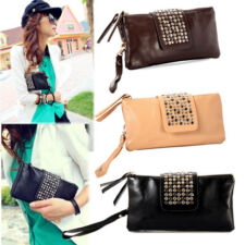 Korean Style Handbag Rivet Lady Girls Clutch Purse Wallet Evening Bag