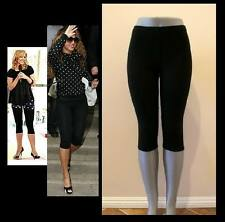 BLACK CAPRIS LEGGINGS TIGHTS STRETCH WORKOUT DANCE S, M, L, XL, 2X, 3X