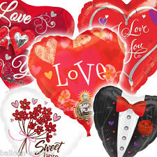 St Valentine's Day Supershape Heart Love Party Balloons All In One Listing
