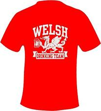 Wales Drinking Team Welsh Rugby Printed T Shirt in 6 Sizes