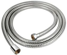 2m & 2.5m Flexible Stainless Steel Chrome Hose Standard Shower Head Bathroom UK
