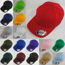 Plain Flexfit Hat Fitted Yupoong Baseball Cap Accessory 18 colours