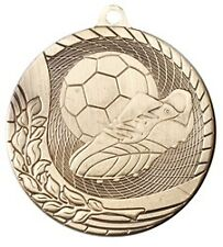 "2"" Economy Soccer Medals w/Ribbon any Qty Ships Flat Rate $5.49 in USA"