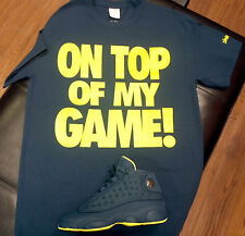 "Men's Blue Crew Neck T-shirt to Match Jordan 13 XIII Retro ""Squadron Blue"""