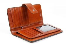 Bosca Old Leather Womens Checkbook Clutch Wallet 1517