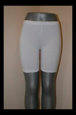 WHITE SHORTS LEGGINGS TIGHTS LYCRA STRETCH WORKOUT DANCE S, M, L, XL, 2X, 3X