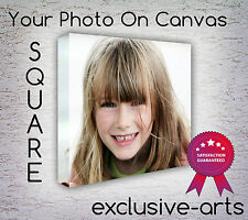 Your Photograph/Picture/Instagram On a Square Deep Framed Canvas Print