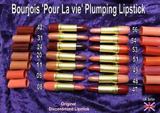 BOURJOIS Pour La Vie plumping LIPSTICK VERY RARE discontinued CHOICE OF SHADES