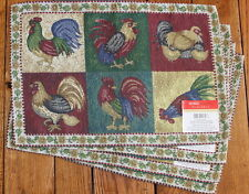 New Designer Kitchen Dining Room Roosters Placemat Tapestry Country decor B