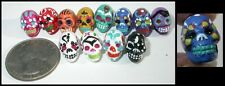 1 Small Day of the Dead SUGAR SKULL Ceramic Bead - Choose Your Color!