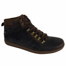 Mens Caterpillar Roarke Brown Leather Ankle Boots CAT Trainers Shoes Size 6-9