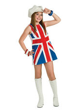 Child Union Jack Fancy Dress Groovy 1960s 1970s Costume British Spice Girls Kids