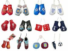 OFFICIAL FOOTBALL CLUB - HANGING CAR ACCESSORIES (Boxing Gloves, Dice, Boots)