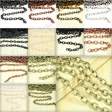4-20m Antique Silver/Gold Cable Chains F Bracelet Metal Chains Jewellery Making