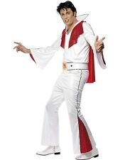 Adult Men's Rock Elvis Presley Red Flare Fancy Dress Costume