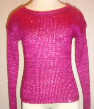 Ladies Dolled Up by Fang Glimmer Long Sleeve Knit Top Juniors Sizes Small, Large