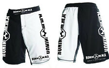 ** Ronin MMA - Black & White Fight Shorts - Grappling, UFC, Cage Fighting **
