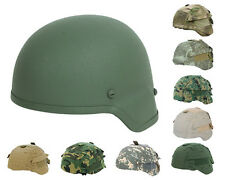 Tactical Military Airsoft Paintball MICH 2000 Fiber Helmet OD with Helmet Cover