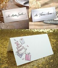 New 50 x Place Cards Wedding Name Placecards Blank White or Ivory Folded