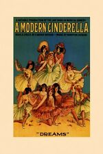 Musical Comedy Modern Cinderella Dreams Show Theater Vint Poster Repro FREE S/H