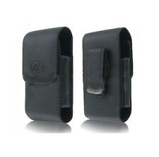 Vertical Leather Side Case Carry Pouch Cover with Belt Clip for Cell SmartPhones