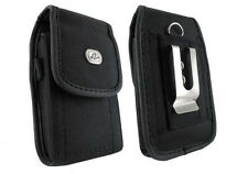 Vertical Leather Carrying Case Cover Pouch w Belt Clip for Samsung LG Motorola