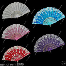 Summer Spanish Style Brocade Embroidery Lace Design Party Wedding Folding Fan