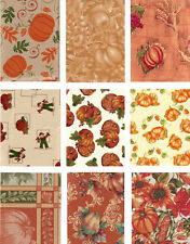 Pumpkin Vinyl Tablecloth Autumn Fall Flannel Back Assorted Patterns Size NEW NIP