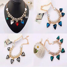 New Lot Fashion Party Chain Link Crystal Rhinestone Golden Choker Necklaces