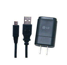 OEM LG 1.2A MCS-02WD Home Wall Travel House Charger + USB Cable - All Carriers