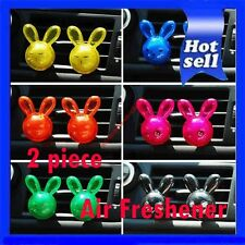 Rabbit Cheapest 2 x CUE Shiny Rabbit Air Freshener Perfume Diffuser For Car New
