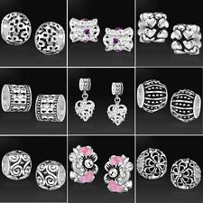 Smart New Online! 3x 5x 10x Wholesale Silver Beads for European Charm Bracelet