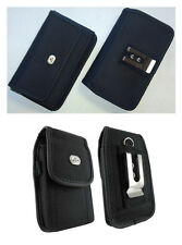 Vertical + Horizontal Rugged Case Cover Pouch Clip w Loops for Verizon Phones