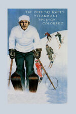 Ski Steamboat Springs Colorado Vintage 1933 Sport Poster Repro FREE S/H