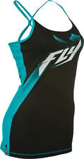 Girls Fly Racing Halftone Cami Tanktop Spagetti Strap Teal White Females BMX