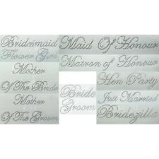 New Wedding Iron On Rhinestones Transfers Bridal Accessory
