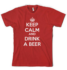 Keep Calm And Drink A Beer T Shirt Funny Drinking Tee