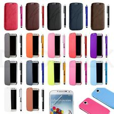 Luxury Slim Hard Case Cover Flip PU Leather For Samsung Galaxy S 4 S IV i9500