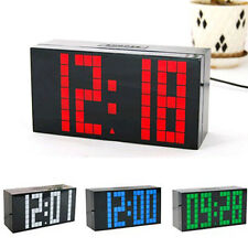 Digital Large Jumbo LED Snooze Wall Desk Alarm Day Of Week Calendar Clock cyk