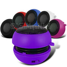 PORTABLE 3.5MM ROUND SPEAKER PURPLE FOR VARIOUS MOBILE PHONES RECHARGEABLE