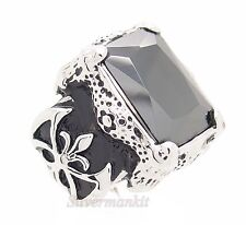 Men's Dragon Claw Black CZ Stainless Steel Ring US Size 8,9,10,11,12,13,