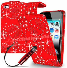 New Leather Wallet Flip Case Cover For Apple iPod Touch 4 Free Screen Protector