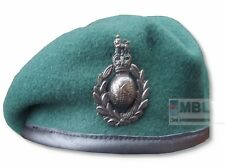 OFFICIAL HEADWEAR  RM ROYAL MARINES COMMANDO GREEN BERET & BRONZE CAP BADGE SBS