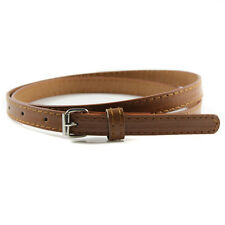 Sweetness Womens Faux Leather Candy Color Thin Skinny Waistband Adjustable Belt